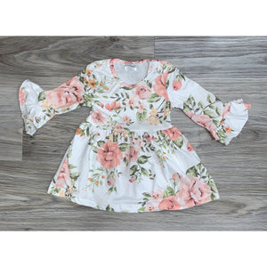 Flutter Sleeved Floral Dress