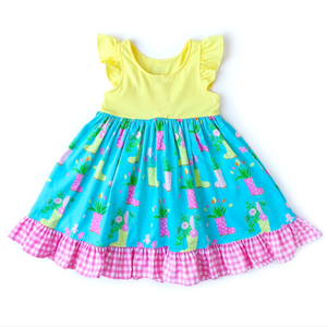 Rain Boot Dress w/ Matching Bow (PREORDER)