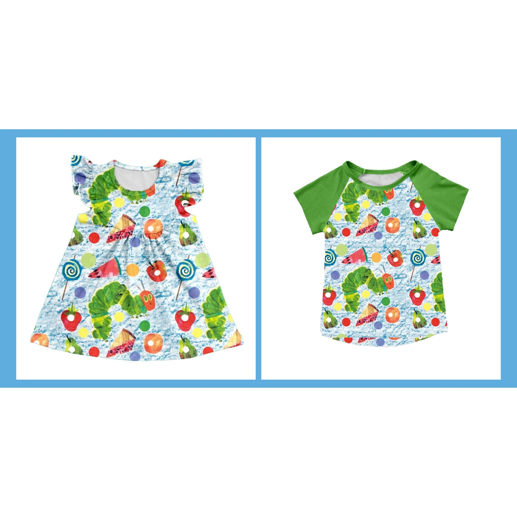 Hungry Caterpillar Raglan and Pearl