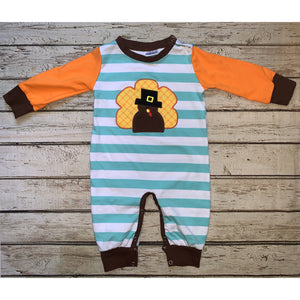 Striped Turkey Romper