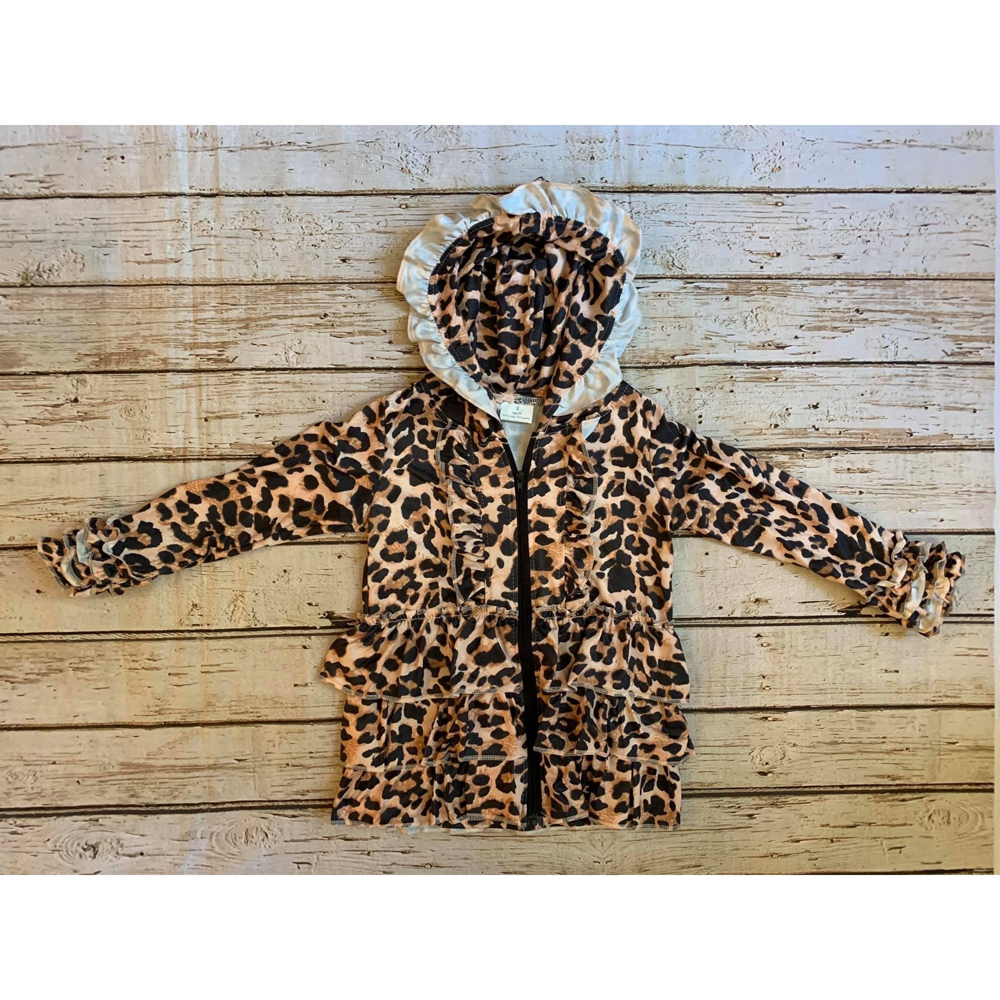 Leopard Print Hooded Jackets