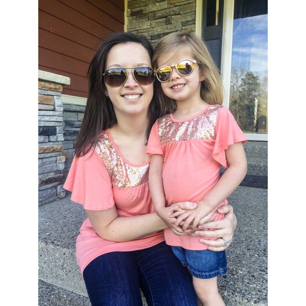 Mommy and Me Sequin Tops
