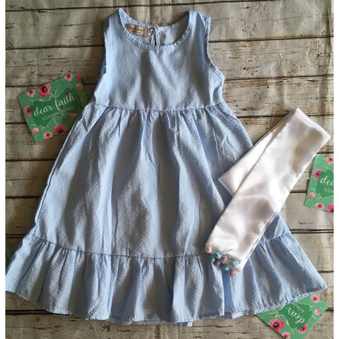 Light Blue Linen Dress