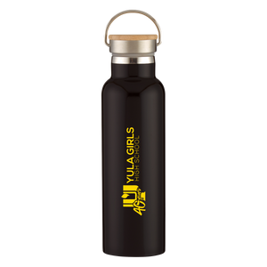 STAINLESS STEEL BOTTLE WITH BAMBOO LID