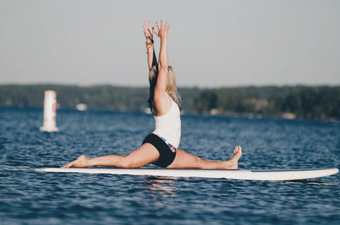 Paddleboard Yoga with Ann Green at The Hive in Honey Harbour