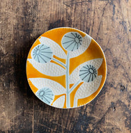 Stoneware Floral Plate