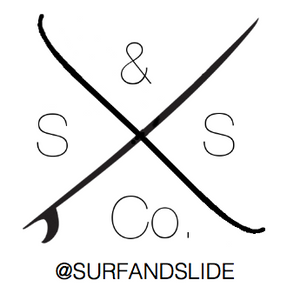 Surf And Slide Logo - Sticker