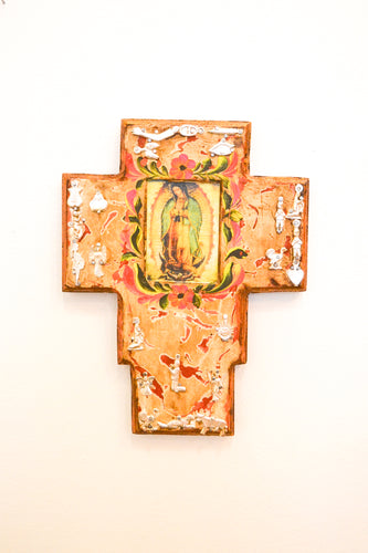 Mexican Cross with Virgin