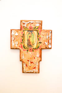 Mexican Cross with Virgin - Folkstore Fitzroy