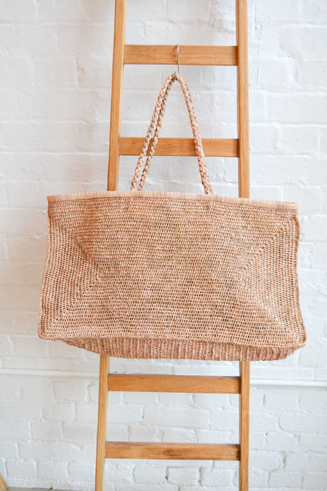 Made in Mada - Large Alice bag - Tea and Light Pink - Folkstore Fitzroy
