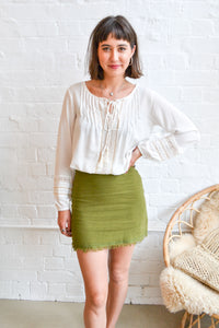 Folkstore Glade Cotton Mini Skirt - Folkstore Fitzroy