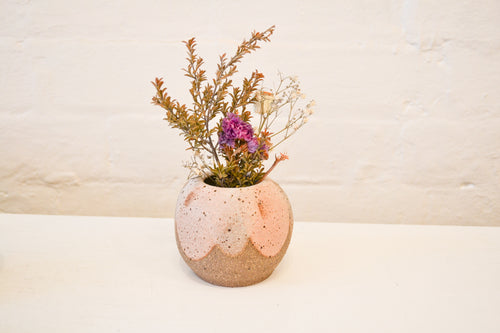Clay By Tina - Medium Bud Vase - Pink - Folkstore Fitzroy