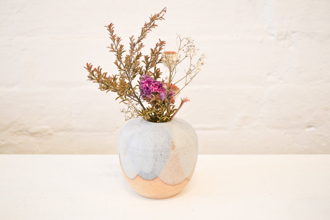 Clay By Tina - Medium Bud Vase - Blue - Folkstore Fitzroy