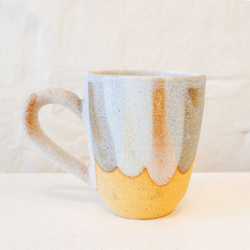 Clay By Tina - Large Mug - Blue Wash - Folkstore Fitzroy