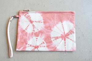 Hand Dyed Clutch - Rose