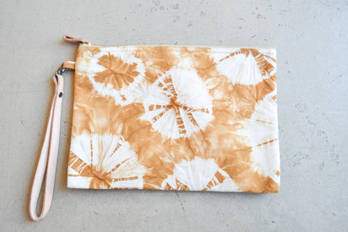 Hand Dyed Clutch - Brown