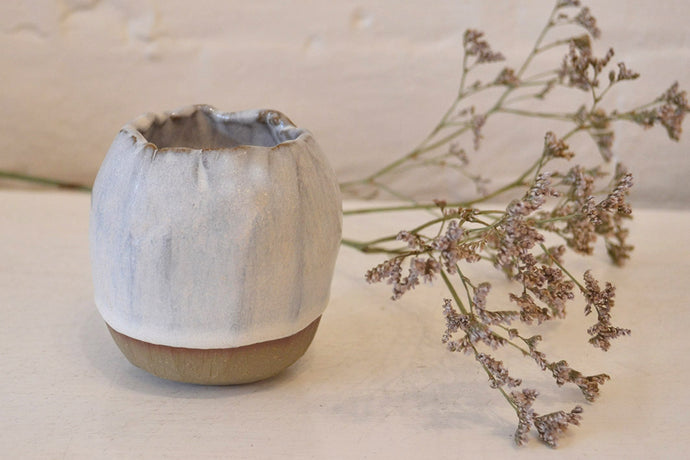 Daisy Cooper - Small Vase - Blushing White - Folkstore Fitzroy