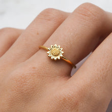 Midsummer Star - Delicate Sunflower Ring - Gold - Folkstore Fitzroy
