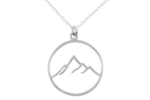 Midsummer Star - Sierra Peaks Mountain Necklace - Silver - Folkstore Fitzroy