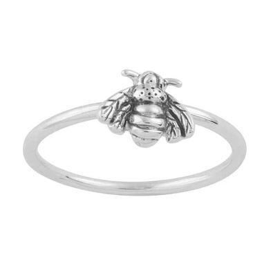 Midsummer Star - Bee Pollination Ring - Silver - Folkstore Fitzroy