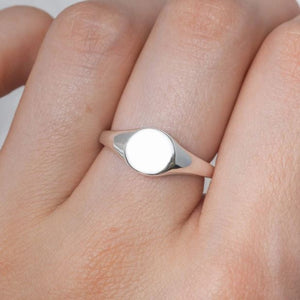 Midsummer Star - Dainty  Signet Ring - Silver - Folkstore Fitzroy