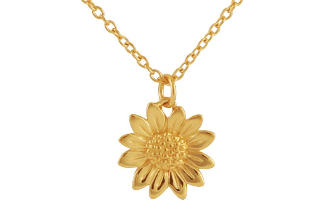 Midsummer Star Gold Blossoming Sunflower Choker - Folkstore Fitzroy