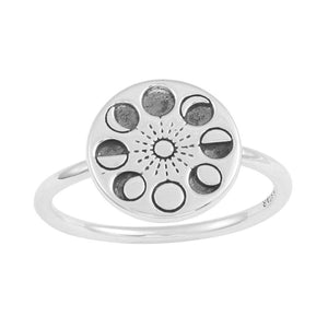 Midsummer Star - Moons Phase Ring - Silver - Folkstore Fitzroy