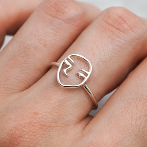 Midsummer Star - Picasso Ring - Silver - Folkstore Fitzroy