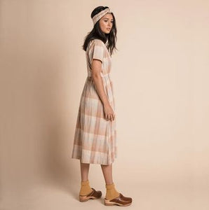 Olli Ella - Tansy Dress - Adobe Check - Folkstore Fitzroy