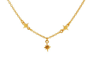 Midsummer Star - Celestial Star Necklace - Gold - Folkstore Fitzroy