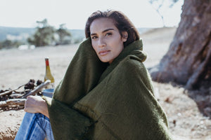 Hobo and Hatch - Scarf/Shawl - Olive - Folkstore Fitzroy