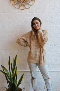 Sophie Mohair Blend Cable Knit Jumper - Cream - Folkstore Fitzroy