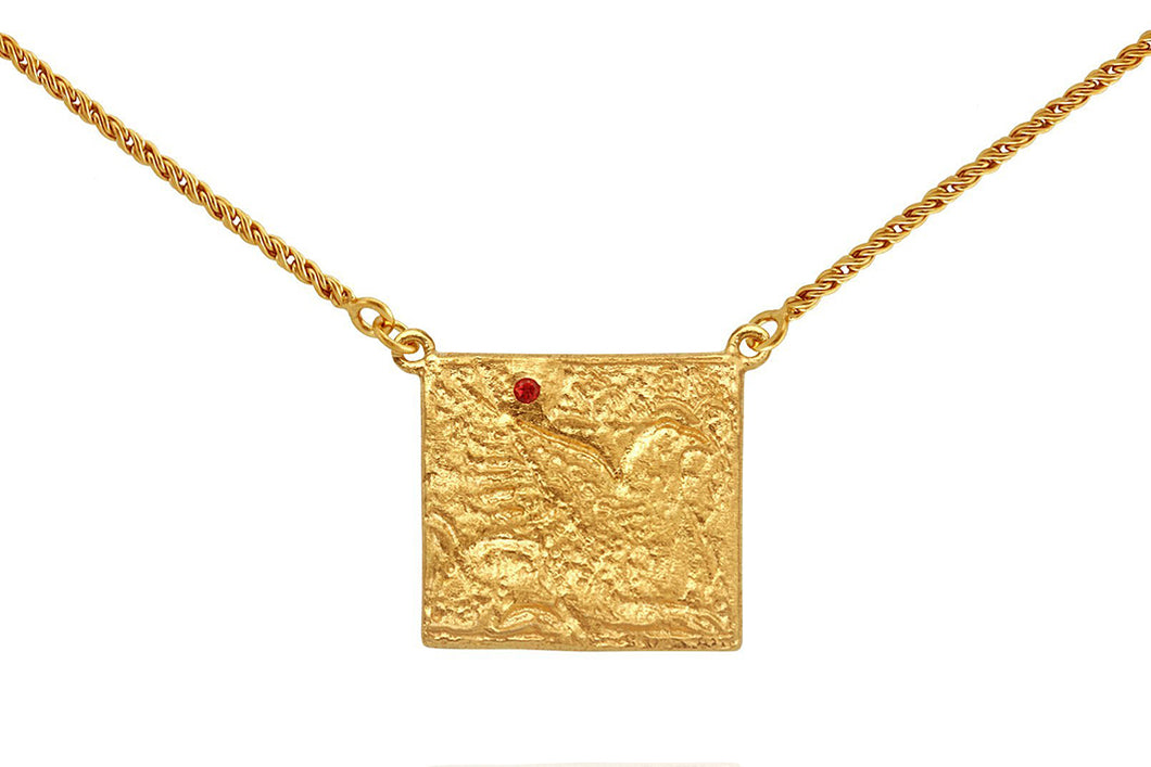 Temple Of The Sun - Phoenix Necklace - Gold - Folkstore Fitzroy