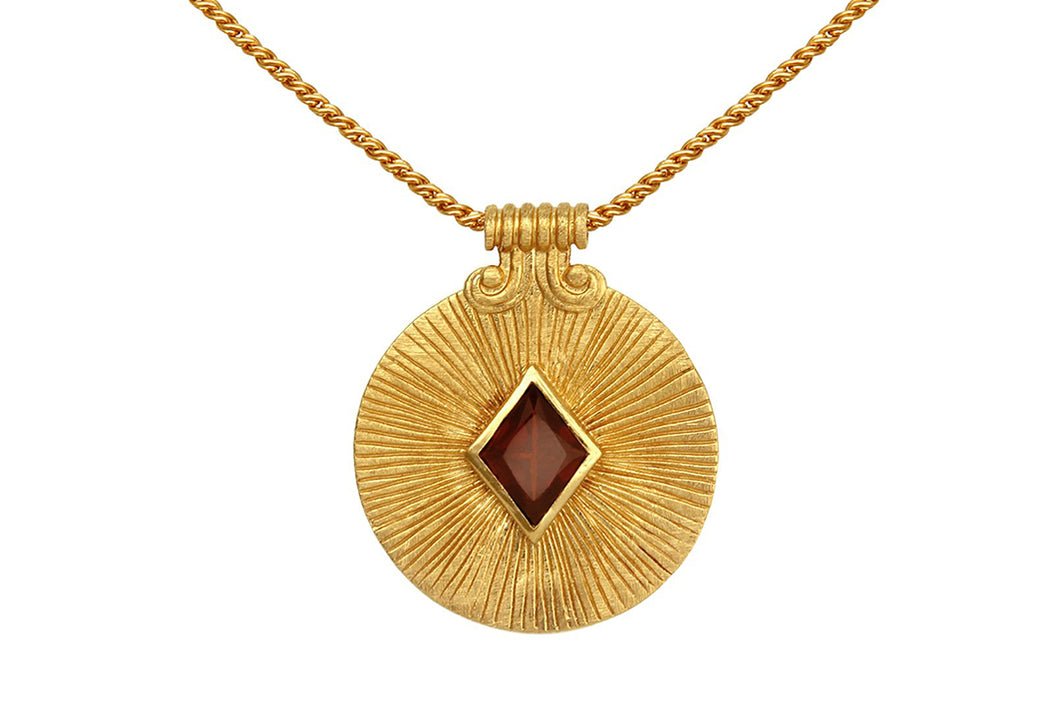 Temple Of The Sun - Sol Necklace - Gold - Folkstore Fitzroy