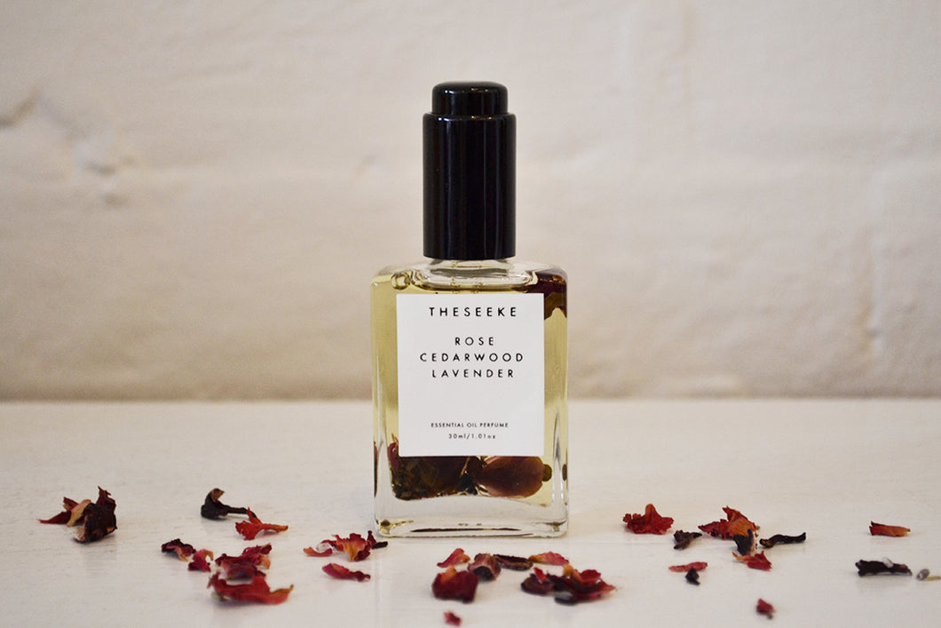 The Seeke - Rose Cedarwood Lavendar Perfume Oil - Folkstore Fitzroy