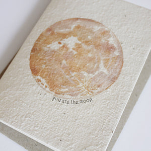 Hello Petal - You Are The Moon Greeting Card - Folkstore Fitzroy