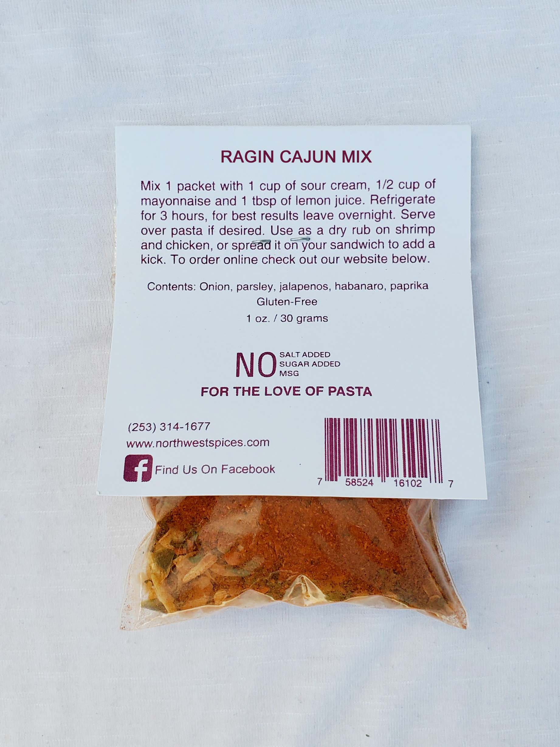 Ragin Cajun Mix for Dips and Recipes
