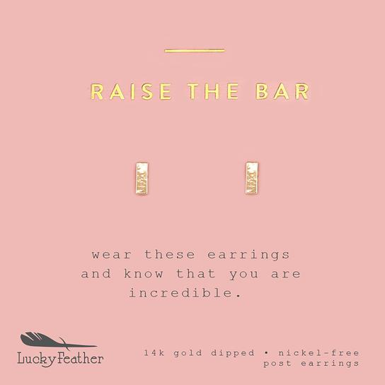 Raise The Bar Stud Earrings