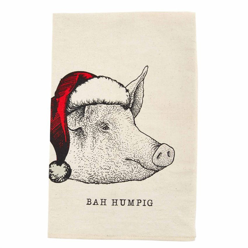 Christmas Farm Dish Towel