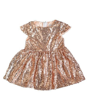 Sequin Party Dress-Rose Gold