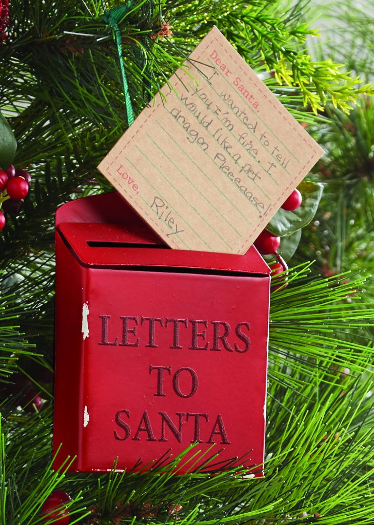 Letters To Santa Tin Ornament