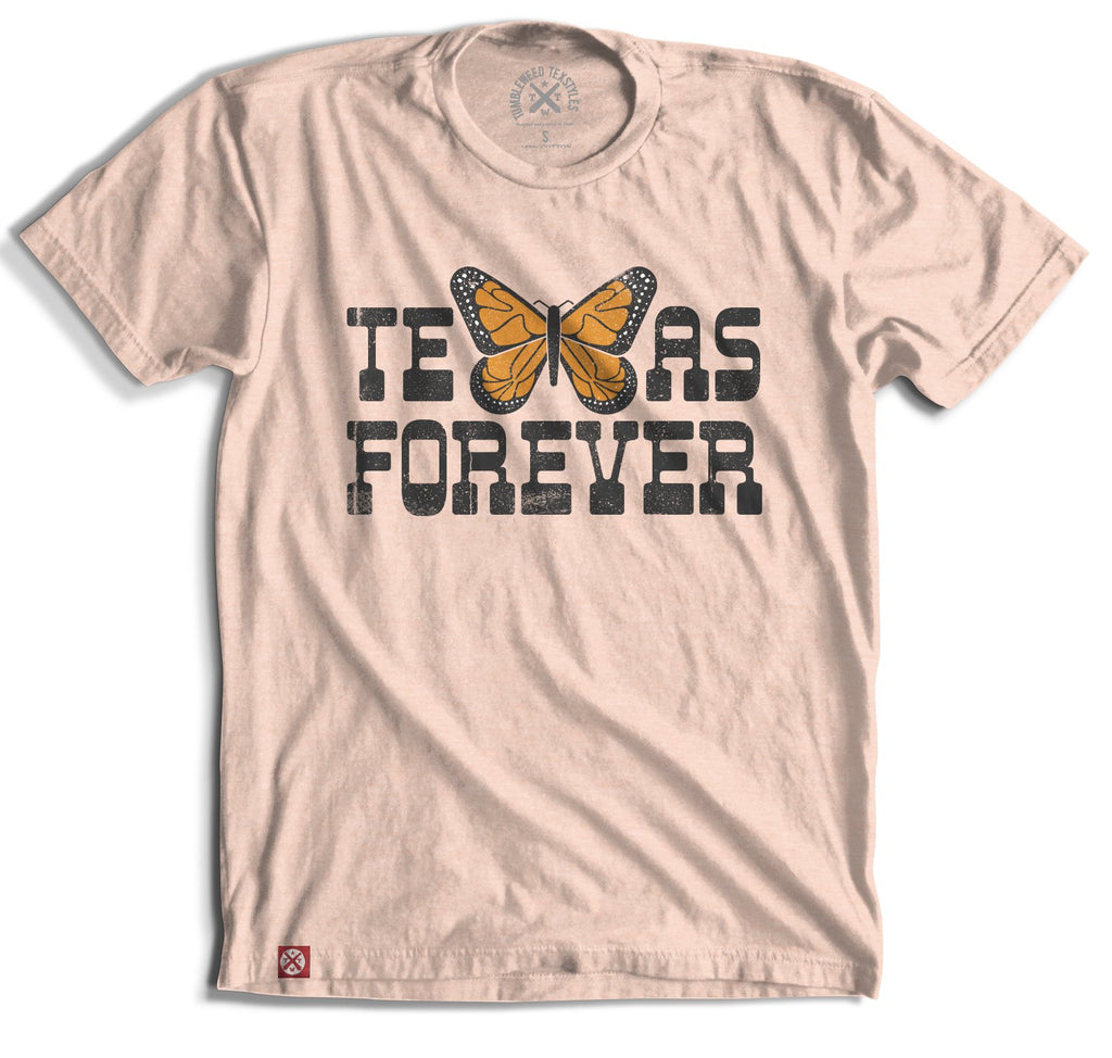 Texas Forever Monarch Butterfly T-Shirt
