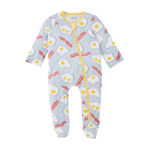 Eggs & Bacon Zipper Sleeper
