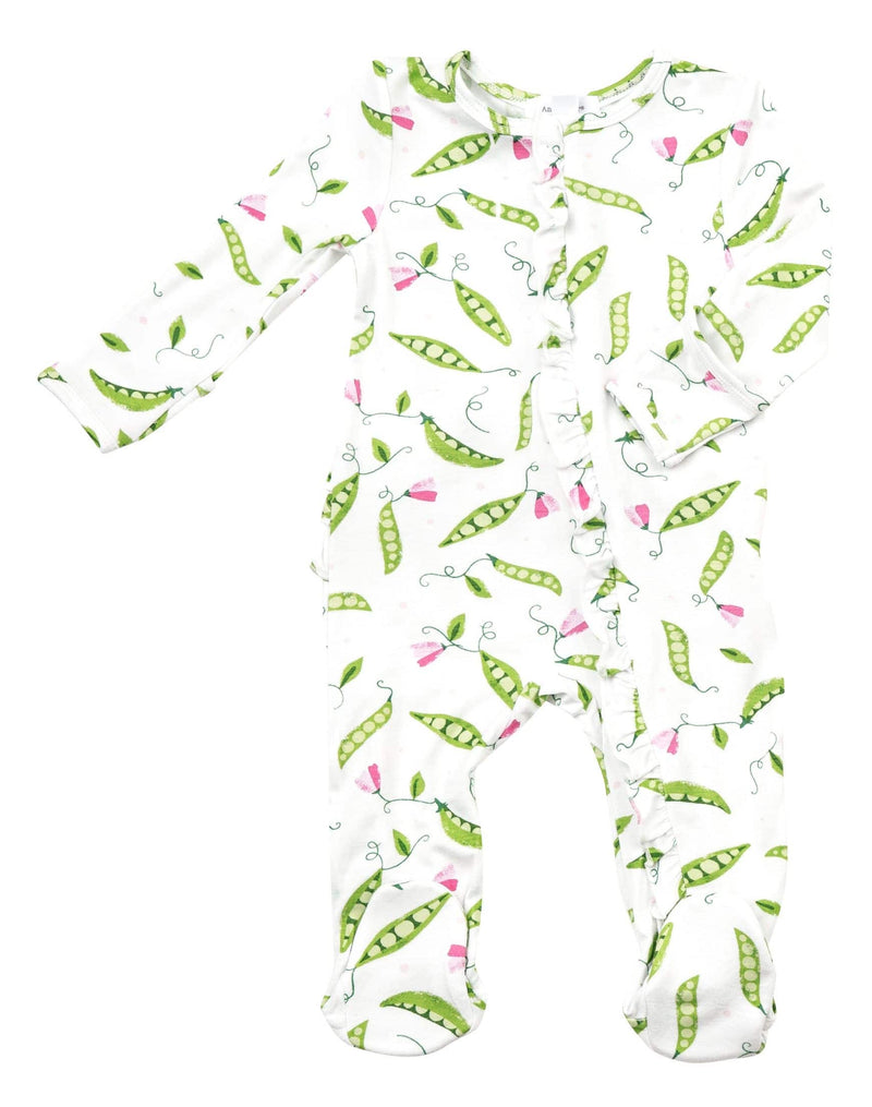 Sweet Pea Ruffle Front Zipper Footie
