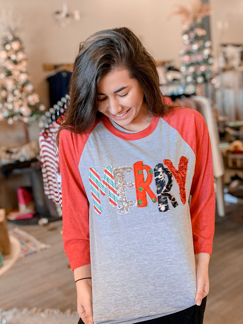 Merry Applique Raglan