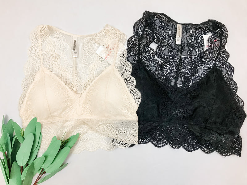 Lace Bralette-Hourglass Back