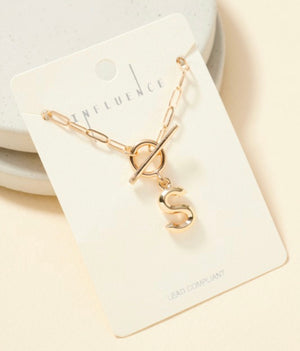 Toggle Initial Necklace