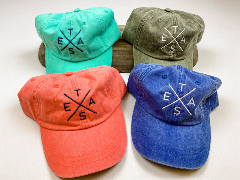Washed Cotton Twill Hat-Big X Texas