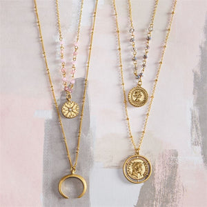 Coin Layering Necklace Set