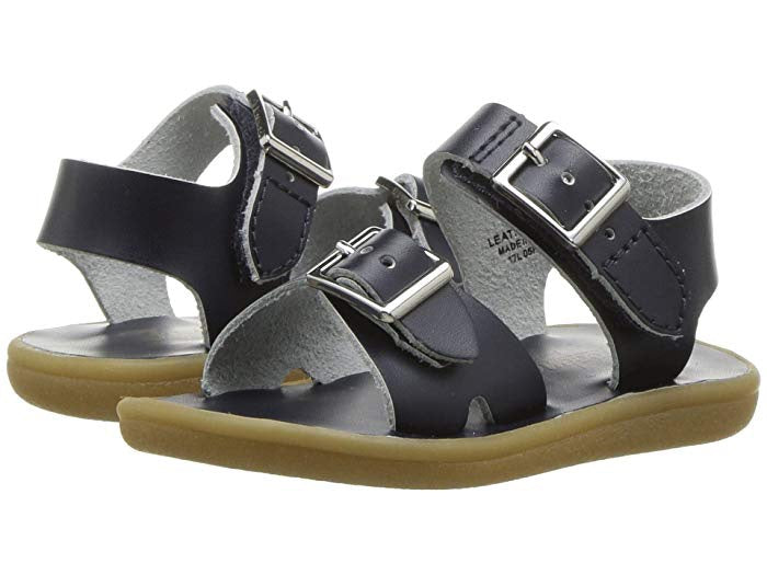 Leather Sandals-Tide Navy